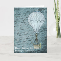 Dusk Blue Hot Air Balloon Steampunk Father's Day
