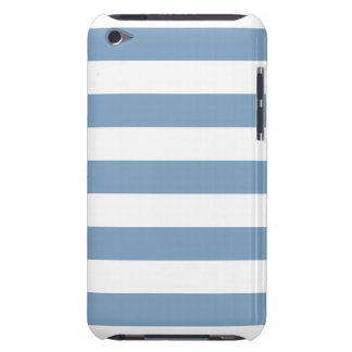 Dusk Blue Stripes Pattern Barely There iPod Cases