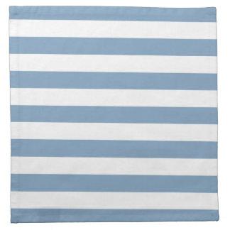 Dusk Blue Stripes Pattern Cloth Napkin