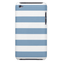 Dusk Blue Stripes Pattern iPod Touch Case-Mate Case