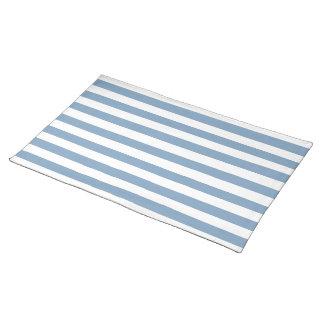 Dusk Blue Stripes Pattern Placemat