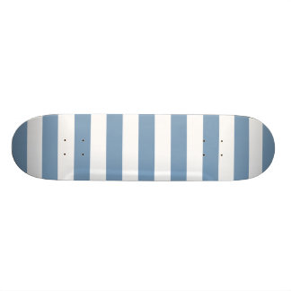 Dusk Blue Stripes Pattern Skateboard