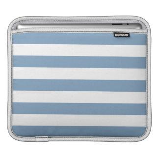 Dusk Blue Stripes Pattern Sleeve For iPads