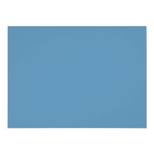 Dusk Blue Trend Color Customized Template Blank Custom Invites