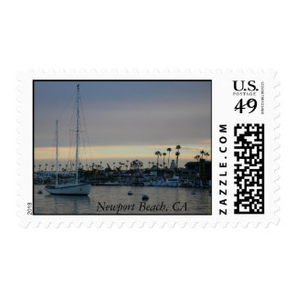 Dusk Boat, Newport Beach, CA Postage Stamps