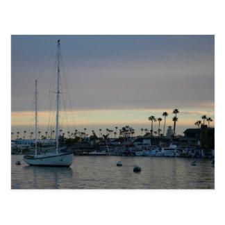 Dusk Boat Postcard