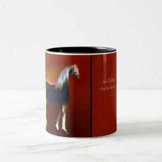 """Dusk"" ~ Burgundy Mug & Bedouin legend"