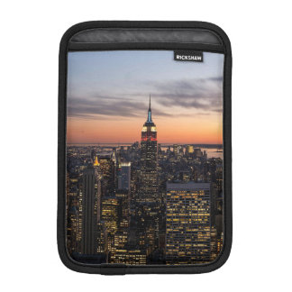 Dusk falls on Manhattan from Top of the Rock, NYC iPad Mini Sleeve