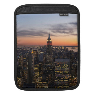 Dusk falls on Manhattan, New York City, New York iPad Sleeve