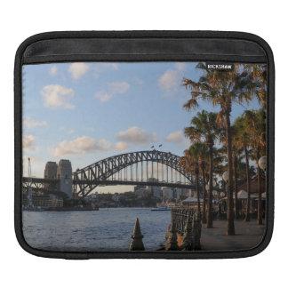 Dusk falls on the Sydney Harbour Bridge iPad Sleeves