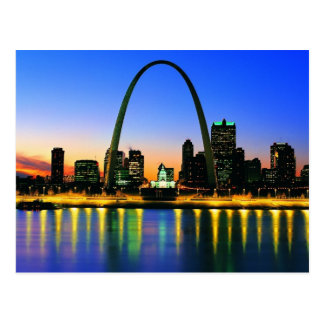 Dusk In St. Louis Missouri Postcard