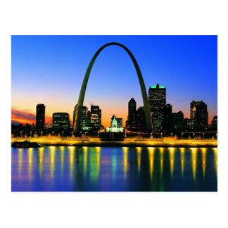 Dusk In St. Louis Missouri Postcard