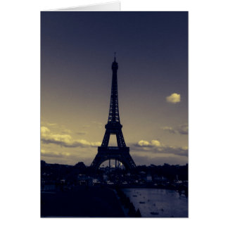 Dusk in the City of Lights Card
