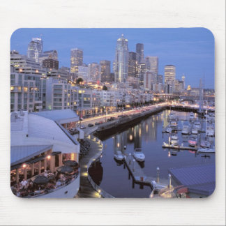 Dusk on Bell Harbor in Seattle, Washington. Mouse Pad