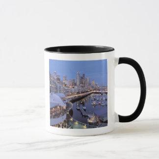 Dusk on Bell Harbor in Seattle, Washington. Mug