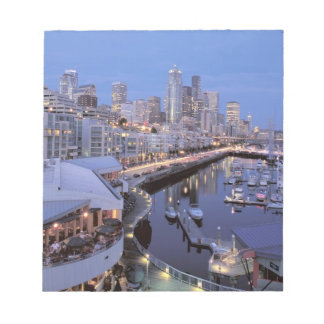 Dusk on Bell Harbor in Seattle, Washington. Notepad