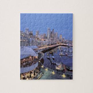 Dusk on Bell Harbor in Seattle, Washington. Puzzle