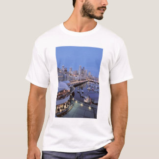 Dusk on Bell Harbor in Seattle, Washington. T-Shirt