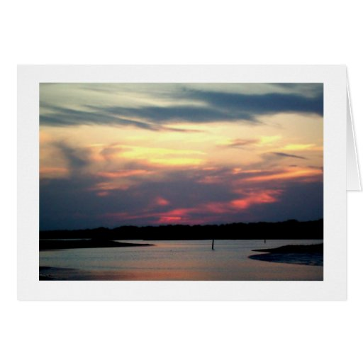 Dusk on Broad Creek Stationery Note Card