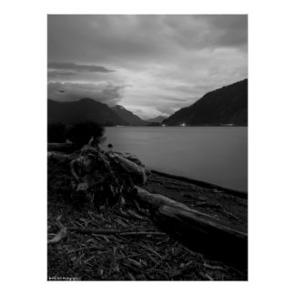 Dusk on the Columbia River Poster