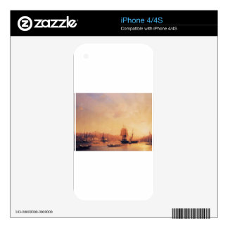 Dusk on the Golden Horn by Ivan Aivazovsky iPhone 4 Skins