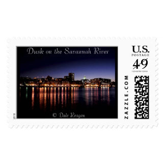 Dusk on the Savannah River. Postage