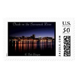 Dusk on the Savannah River. Postage