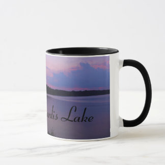 Dusk over Sardis Lake mug