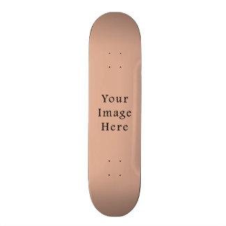 Dusk Peach Pink Color Trend Blank Template Skateboard Deck