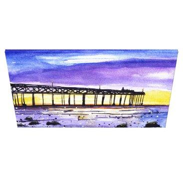Beach Themed Dusk Pier Canvas Print