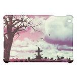 Dusk Pink Full Moon Graveyard Goth iPad Case