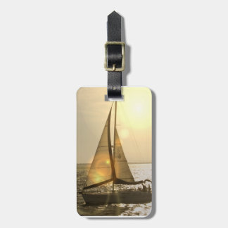 Dusk Sailing Luggage Tag