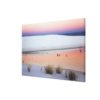 Dusk sky reflected in pool of water from canvas print