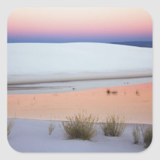 Dusk sky reflected in pool of water from square sticker
