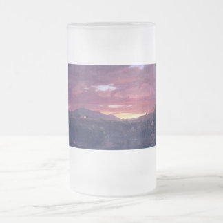 Dusk (sunset) by Frederick Edwin Church Frosted Glass Beer Mug