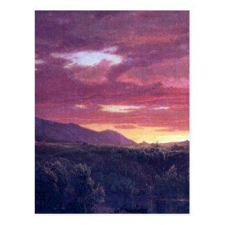 Dusk sunset by Frederick Edwin Church Postcards
