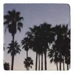 Dusk with Palm Trees Trivet