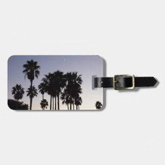 Dusk with Palm Trees Tropical Scene Bag Tag