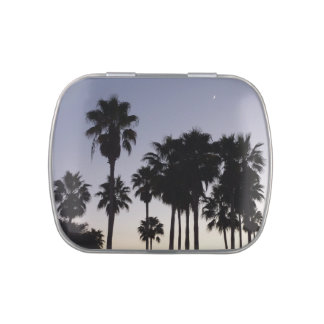 Dusk with Palm Trees Tropical Scene Candy Tins