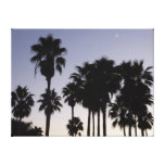 Dusk with Palm Trees Tropical Scene Canvas Print