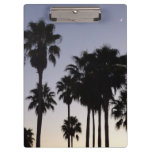 Dusk with Palm Trees Tropical Scene Clipboard