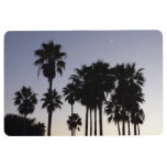 Dusk with Palm Trees Tropical Scene Floor Mat