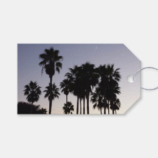 Dusk with Palm Trees Tropical Scene Gift Tags