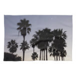 Dusk with Palm Trees Tropical Scene Kitchen Towel