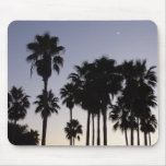 Dusk with Palm Trees Tropical Scene Mouse Pad
