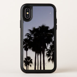Dusk with Palm Trees Tropical Scene OtterBox Symmetry iPhone X Case