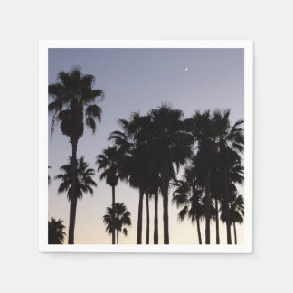 Dusk with Palm Trees Tropical Scene Paper Napkin