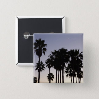 Dusk with Palm Trees Tropical Scene Pinback Button