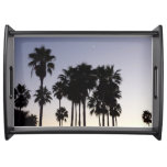 Dusk with Palm Trees Tropical Scene Serving Tray