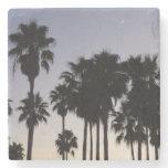 Dusk with Palm Trees Tropical Scene Stone Coaster